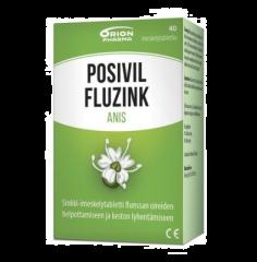 POSIVIL FLUZINK ANIS IMESKELYTABLETTI 40 TABL
