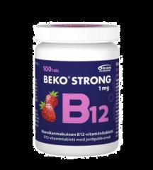 BEKO STRONG B12 1MG MANSIKKA 100 PURUTABL