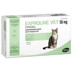 EXPROLINE VET 50 mg paikallisvaleluliuos (kissoille)3x0,5 ml